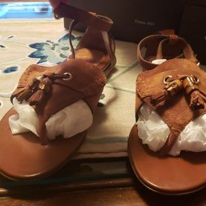 Gucci suade leather sandals,never worn,brand new